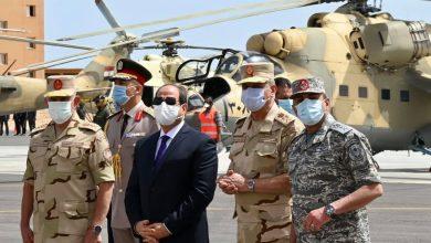 تفقد السيد الرئيس الوحدات المقاتلة للقوات الجوية بالمنطقة الغربية العسكرية صباح اليوم