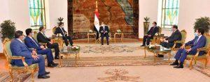 أكد السيد الرئيس الموقف المصري الثابت إزاء دعم الحكومة اليمنية الشرعية الحالية