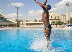 أسرع سباح تحت الماء المصري عمر سيد شعبان