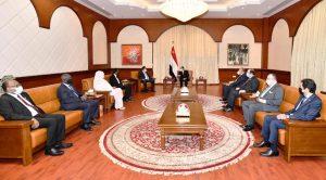 التقى السيد الرئيس عبد الفتاح السيسى اليوم مع الدكتور عبد الله حمدوك، رئيس وزراء الجمهورية السودانية