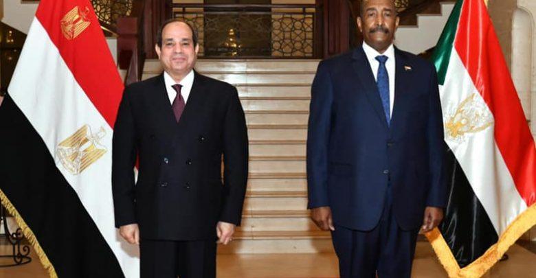 التقى السيد الرئيس عبد الفتاح السيسي اليوم بالقصر الجمهوري في العاصمة السودانية