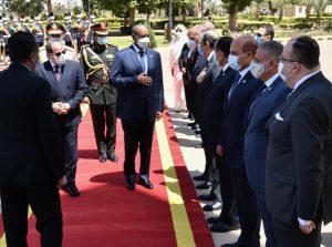 التقى السيد الرئيس عبد الفتاح السيسي اليوم بالقصر الجمهوري في العاصمة السودانية الخرطوم