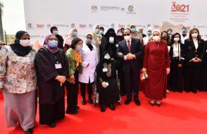 حضور السيد الرئيس عبــد الفتــاح السيسى والسيدة الفاضلة قرينته اليوم لأحتفالية المرأة المصرية والأم المثالية