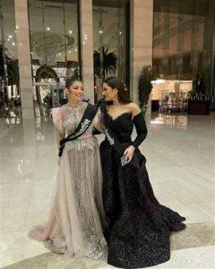 ملك وليلى أحمد زاهر بفستانين أنيقين