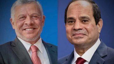 السيد الرئيس عبد الفتاح السيسي يوجه كلمة الي اخيه الملك عبد الله الثاني