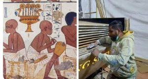 افتحوا الصور وشوفوا الرابط العجيب بين الماضي والحاضر بين الاجداد والاحفاد حقيقي عظيمة يا مصر