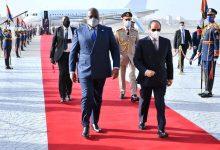 السيد الرئيس يستقبل بمطار القاهرة الرئيس فيليكس تشيسيكيدى، رئيس الكونغو