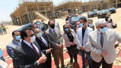 جولة تفقدية لوزير التعليم العالي ورئيس جامعة حلوان لمتابعة أعمال إنشاءات الجامعة الأهلية الحديثة