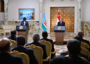 كلمة السيد الرئيس عبد الفتاح السيسي في المؤتمر الصحفي عقب المباحثات مع رئيس جنوب السودان